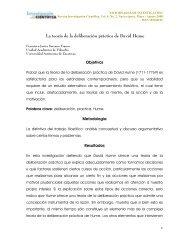 La teoría de la deliberación práctica de David Hume - Universidad ...