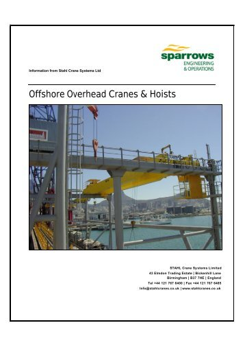 Offshore Overhead Cranes & Hoists - Sparrows