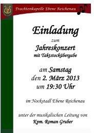Einladung 2013