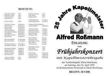 Einladung 1999