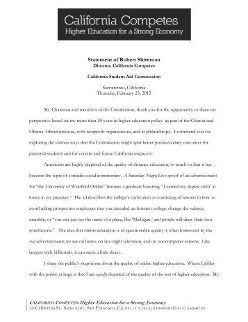 prepared statement - Inside Higher Ed