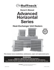 Ruffneck AH Advanced Horizontal Unit Heater - Owner's Manual