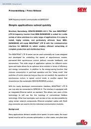 Read complete press release - sercos