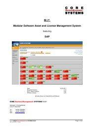 M.I.T. Modular Software Asset and License Management System  SAP