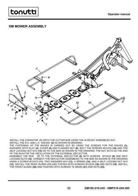 Operator manual DM MOWER