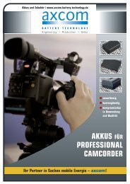 Akkus für Professional Camcorder - Axcom GmbH