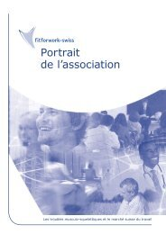 Portrait de l'association - fit for work