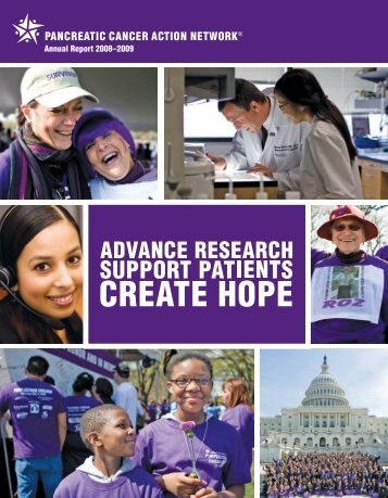 annual report 2008–2009 - Pancreatic Cancer Action Network