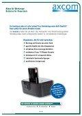 Akkus für Werkzeuge Batteries for Powertools - Axcom GmbH - Seite 5