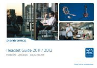 Plantronics Headset Guide 2011-2012