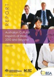 Australian cultural Imprints @ work - Innovation & Business Skills ...