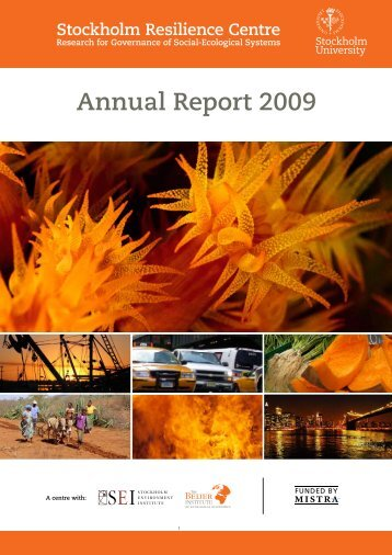 Read Annual report 2009 - Stockholm Resilience Centre
