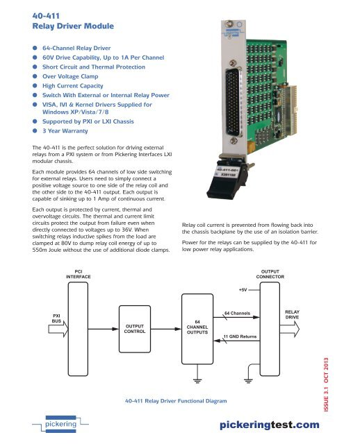 40-411D pdf - Pickering Interfaces