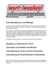 Wortwechsel 12/2011 als pdf-Datei - Büchelberg, das Dorf mitten im ...
