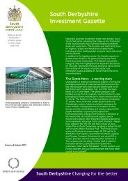 Investment Gazette - Issue 5 - Autumn 2011 - South Derbyshire ...