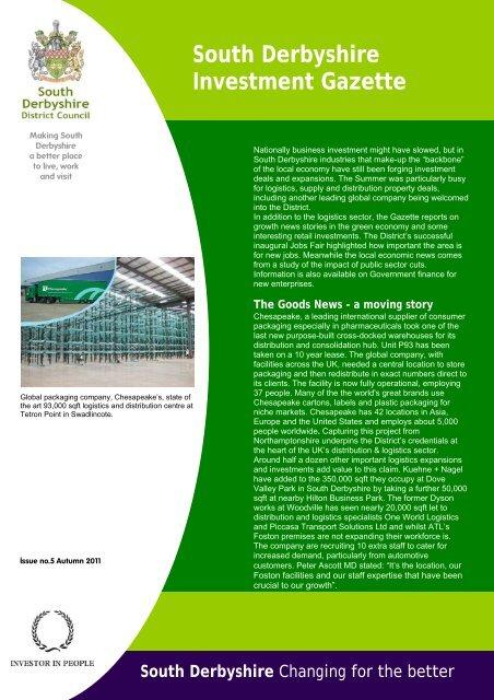 Investment Gazette - Issue 5 - Autumn 2011 - South Derbyshire ...