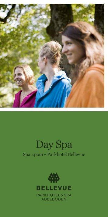 Broschüre Day Spa - Parkhotel Bellevue