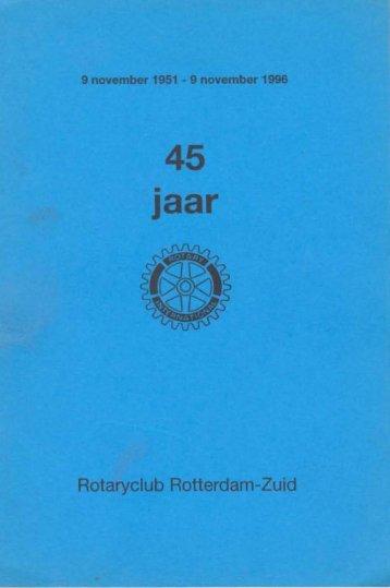 Rotary Club Rotterdam-Zuid 45 jaar - Rotary Nederland