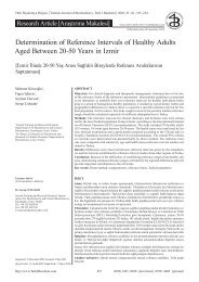 Determination of Reference Intervals of Healthy Adults Aged ...