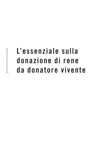 L'essenziale sulla donazione di rene da donatore vivente