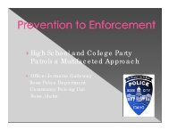 High School and College Party Patrols a Multifaceted Approach