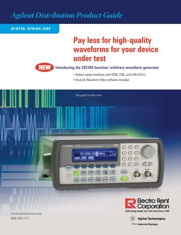 Pay less for high-quality waveforms for your device under test