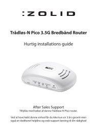 Trådløs-N Pico 3.5G Bredbånd Router Hurtig ... - Unisupport