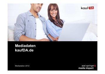 Mediadaten kaufDa de 2012 ... - Axel Springer MediaPilot