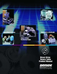 Direct Drive Rotary Table Product Manual