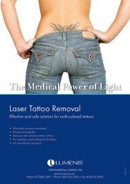 Tattoo Removal Brochure - Lumenis Aesthetic