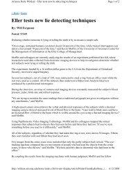 Eller tests new lie detecting techniques - Eller College of Management