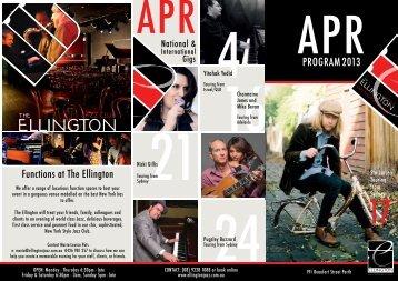 APR2013 PROGRAM - The Ellington Jazz Club