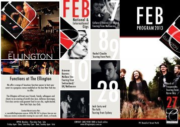 FEB2013 PROGRAM - The Ellington Jazz Club