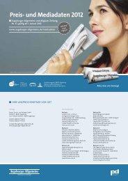 Preis- und Mediadaten 2012 - Augsburger Allgemeine | Mediadaten