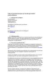 Prækvalifikation – Omverdensanalyse på handicapområdet - Social