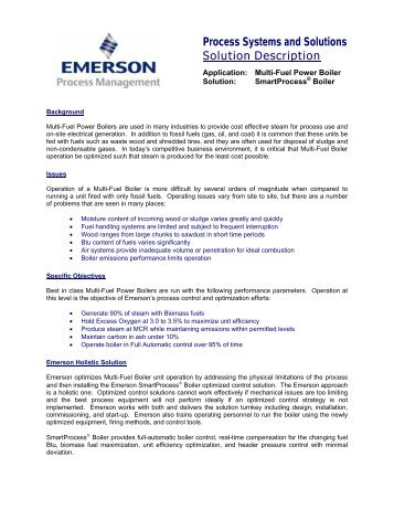 SmartProcess® Boiler - Emerson Process Experts