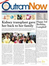 Kidney transplant gave her back to her family - Singapore General ...