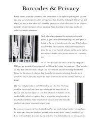 Barcodes & Privacy - Azalea Software
