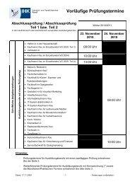Vorläufige Prüfungstermine - Paul-Orzessek.de