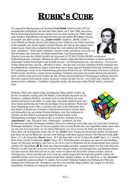 Zauberwürfel lösen pdf