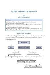 3. Kapitel: Grundbegriffe des Sachenrechts - Beck-Shop.de
