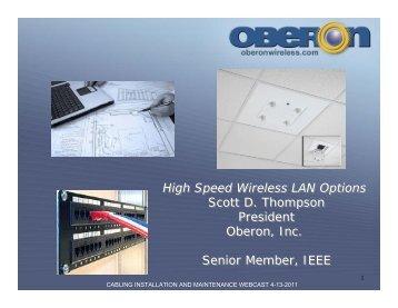 High Speed Wireless LAN Options Scott D. Thompson ... - Oberon Inc.