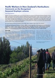Pacific Workers in New Zealand's Horticulture: Comments on the ...
