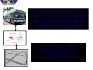 a demonstration of transit signal priority ( ) (tsp) evaluated under ...