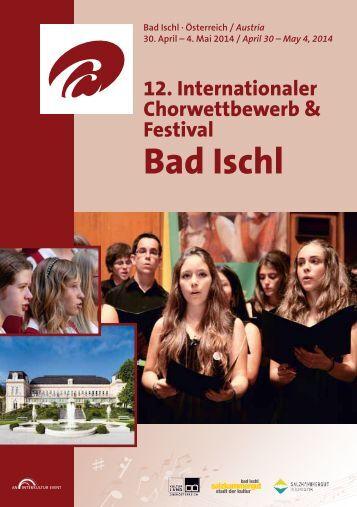 Program Book - Bad Ischl 2014