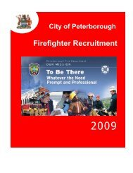 Firefighter Recruitment Booklet - City of Peterborough