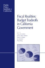 Fiscal Realities: Budget Tradeoffs in California Government