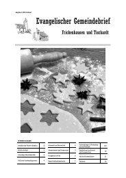 Advent 2011 - Evangelische Kirchengemeinde Frickenhausen