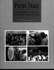 Undergraduate Education Across the Commonwealth - Schreyer ...
