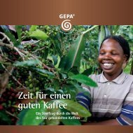 Zeit für einen guten Kaffee - Gepa